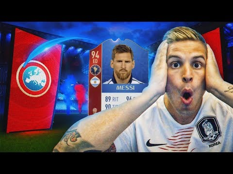 ME TOCA MESSI Y 2 ICONOS IN PACKS!!! | FIFA 18 WORLD CUP!!