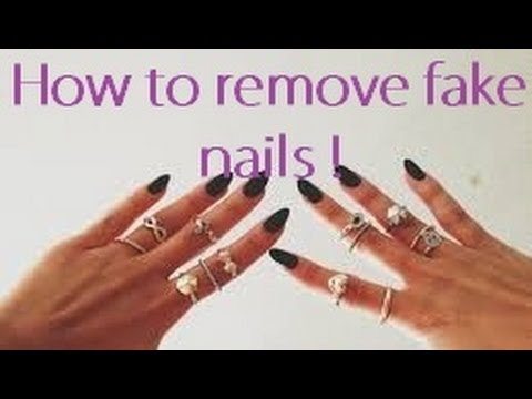 STEP-BY-STEP| How to remove fake nails without damaging natural nails ♡