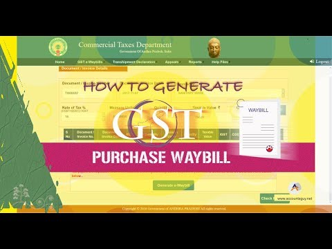 How to Generate Purchase GST Waybill - GST Technical Guide