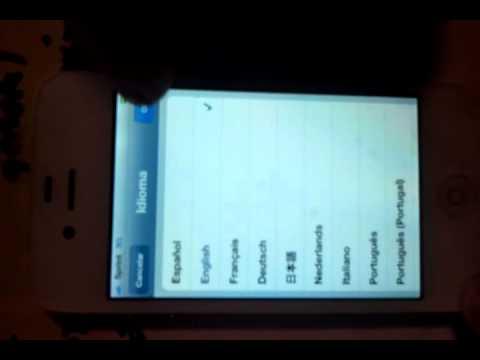 Iphone 4 language change