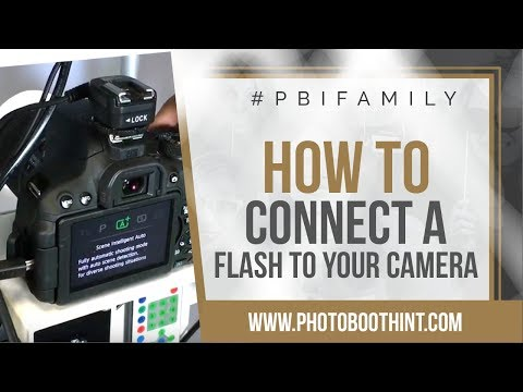 How To Connect A Flash To Camera In Your Photo Booth | Photo Booth International