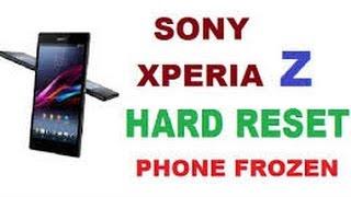 2 Ways To Unlock Sony Xperia Z Pattern Or Password Xperia Z Hard Reset
