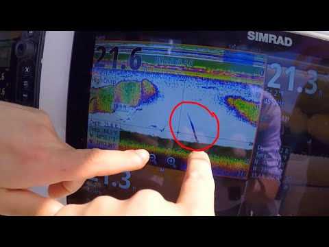 How to find Flounder with Your Fish Finder. Simrad Evo2,3