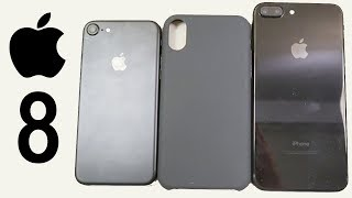 NEW REAL iPhone 8 Back CASES iPhone 7 & 7 Plus Comparison | iPhone 8 DUMMY LIVE HANDS-ON!!!