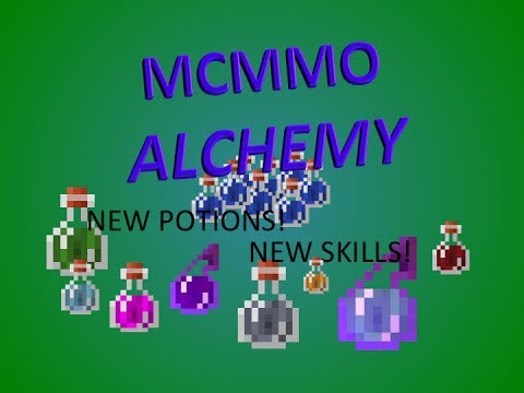 MCMMO ALCHEMY! New skill that adds NEW MINECRAFT POTIONS!