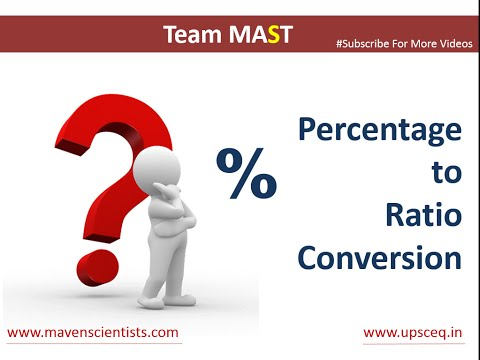 Percentage to Ratio Conversion | Team MAST