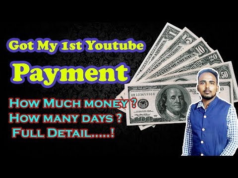Got My First Youtube Payment | Youtube Salary | How Much.? | Money | 2018