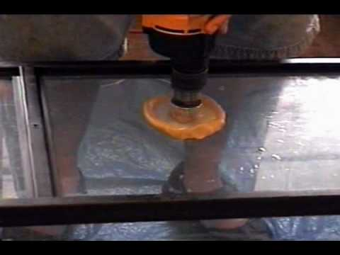 tempered glass drilling demo..
