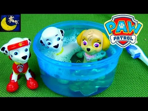 Paw Patrol All Stars Pups Toys Marshall Get's Ready for Bed Funny Bedtime Routine Toy Video for Kids