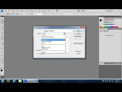 Adobe Photoshop - How to Create a New File, Save a File, and Open a File