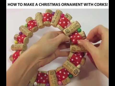 How To Make A Christmas Ornament With Corks!
