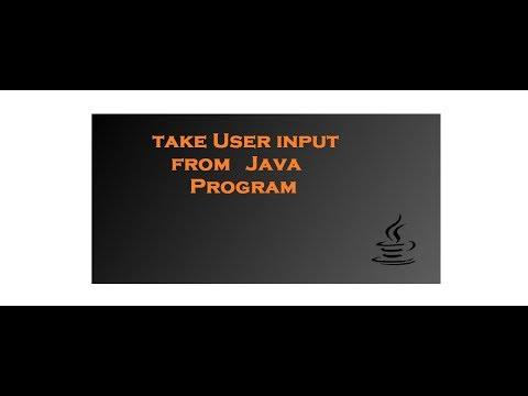 Take User input in java program Make program dynamic