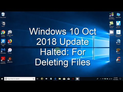 Windows 10 Oct 2018 Update Personal Files Deleted!  What Happen?