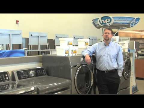 What are tips on choosing efficient washers and dryers?