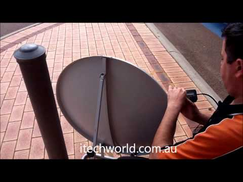 How to set up an itechworld VAST portable 85cm satellite system in less than 2 minutes