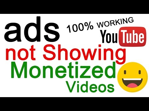 PROBLEM FIX  | YouTube Videos are Monetized But ADS Not Showing | 100% Working | Hindi Tutorials |