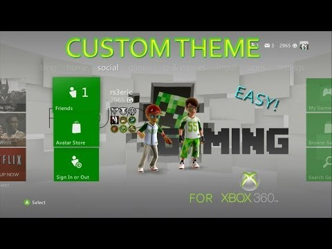 How to make an XBOX 360  CUSTOM theme!  EASY!  (2014)