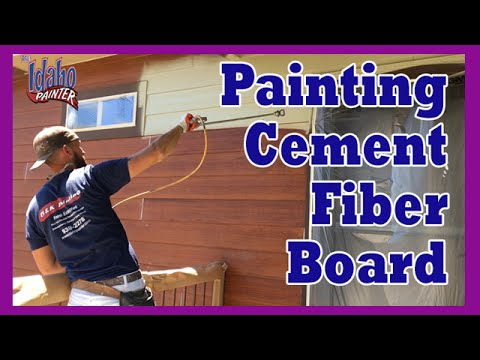 HOW TO SPRAY HARDIE PLANK. Home Improvement Tips Painting Cement Fiber Board.