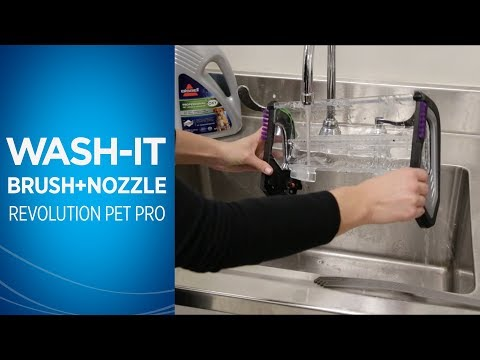 How to clean the Nozzle and Brushroll on the ProHeat 2X® Revolution™ Pet Pro Carpet Cleaner | BISSEL