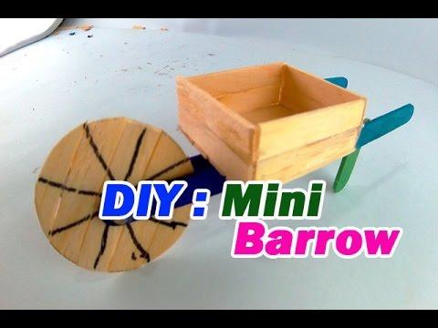 DIY Wheelbarrow Using Popsicle sticks