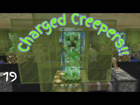 Building a charged creeper farm in survival minecraft