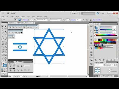 Adobe Illustrator CS5 Tutorial 10   Israeli Star   YouTube