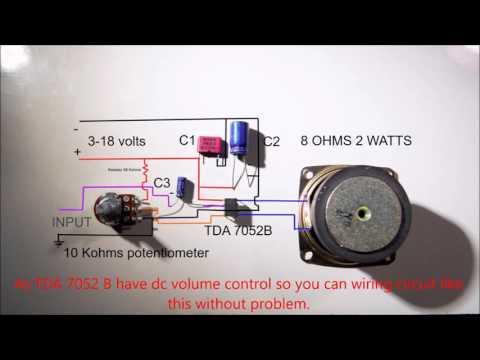 1.2 w amplifier TDA7052 wiring diagram