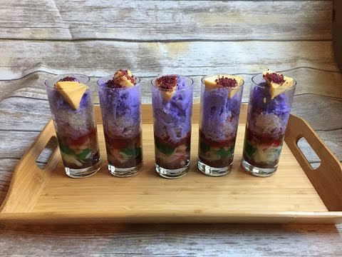 Easy Halo Halo (Filipino Parfait Made With A Margarita Machine)