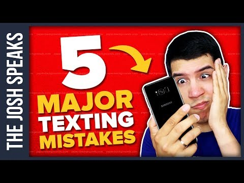 Texting a Girl You Just Met? DON'T Make These 5 Mistakes