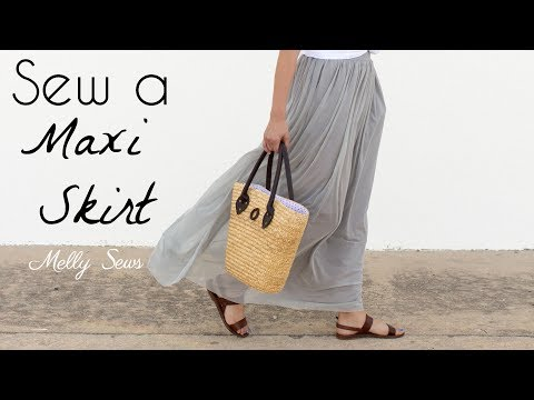 How to Sew a Maxi Skirt