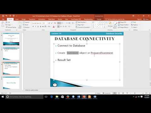 Database Connectivity 02- Connectivity of Oracle database with Java using Netbeans 02