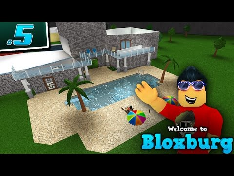BUILDING A POOL in Welcome to BloxBurg!! - Ep. 5 | Roblox