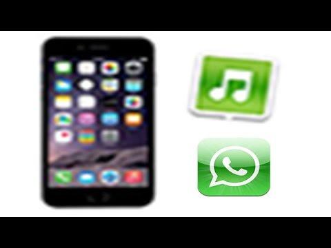 HOW to customise iphone whatsapp ringtone