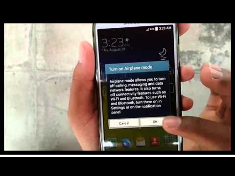 Samsung Galaxy S4 : How to turn off airplane mode (Android Kitkat)