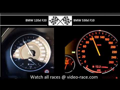 BMW 120d F20 VS. BMW 530d F10 - Acceleration 0-100km/h
