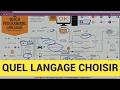 Quel langage est fait pour toi ?