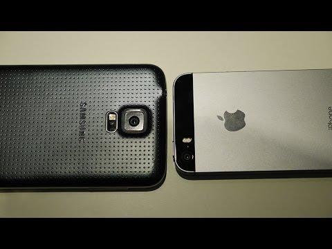 Samsung Galaxy S5 vs iPhone 5S - Quick Look!
