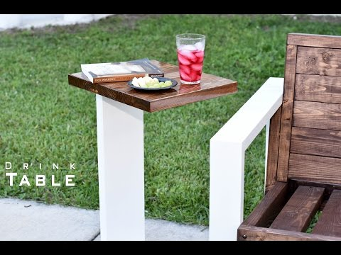 Modern Drink Table Indoor- Outdoor  | DIY Build
