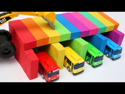Kinetic Sand Rainbow House Surprise Toys Learn Colors Nursery Rhymes Songs For Kids Tayo Little Bus