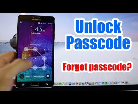 Unlock Passcode Samsung Galaxy Note 4 - Forgot Passcode for Android Devices Reset