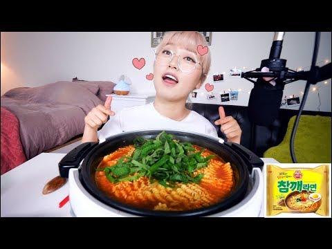 Sesame Flavor Korean Instant🍜 Noodles Mukbang with Perilla leaves!| KEEMI★