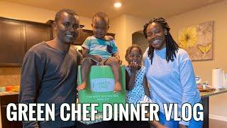 DINNER VLOG   GREEN CHEF MEAL KIT