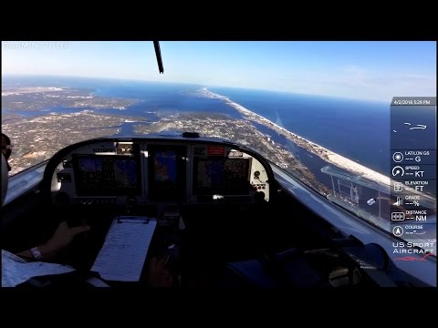Long Cross-Country Flight | ATC Audio | Texas to Florida in the SportCruiser LSA