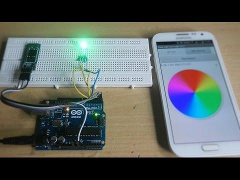 Arduino RGB LED control using  Bluetooth