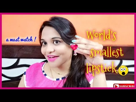THE WORLD'S TINIEST LIPSTICK (Swatches) | SuperBeautyDezires