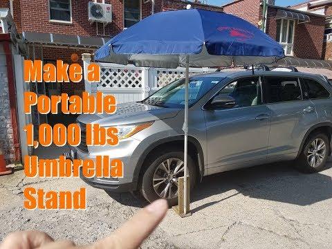 Make a Portable 1,000 lbs Umbrella Stand