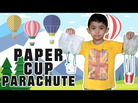 Paper cup parachute | DIY crafts for kids | Paper cup craft ideas for kids
