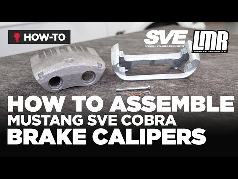 How To Assemble Mustang SVE Cobra Style Front Brake Calipers (1994-2004)