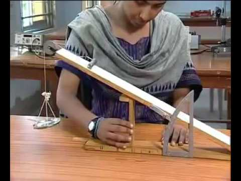 Class 11 Coefficient of friction using an inclined plane physics practical experiment