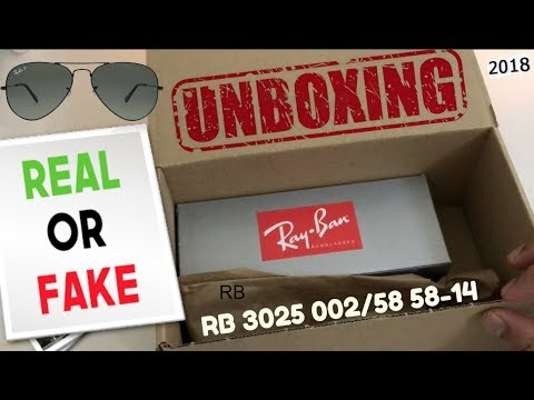 How to tell if your Ray-Ban are real or fake ? #2018 Unboxing Ray-Ban Aviator Polarized RB3025